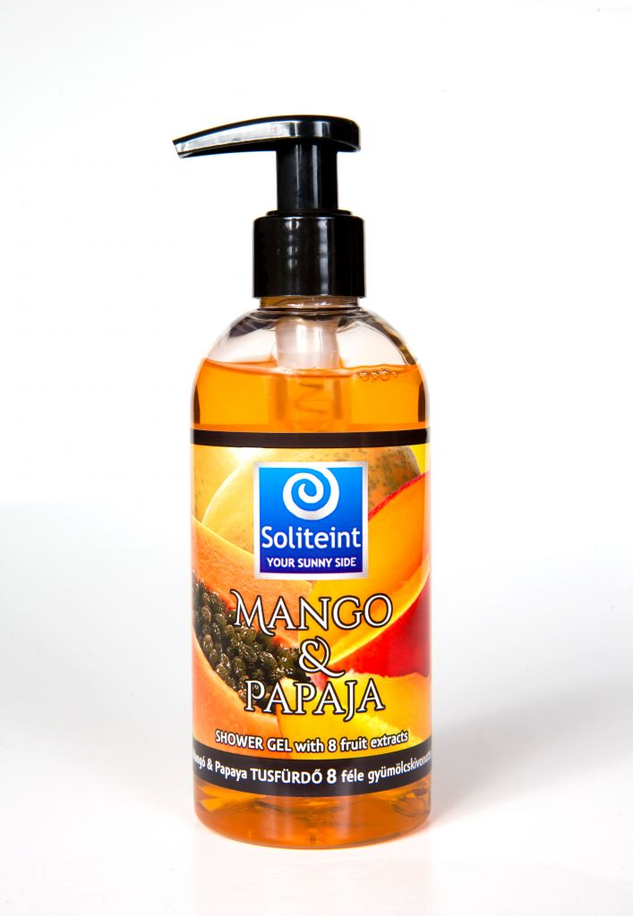 Soliteint mango & papaja shower gel with 8 fruit extracts