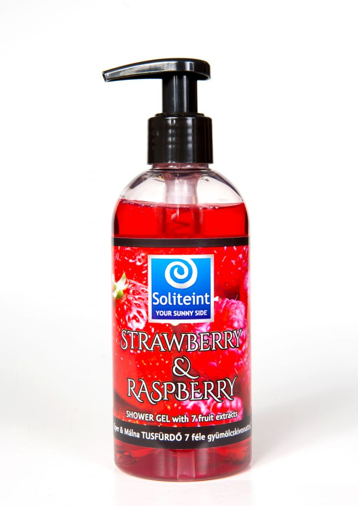 Soliteint strawberry & raspberry shower gel with 7 fruit extracts